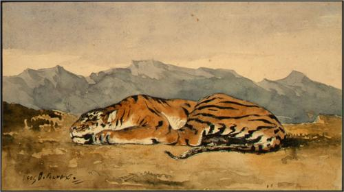 Delacroix - tiger