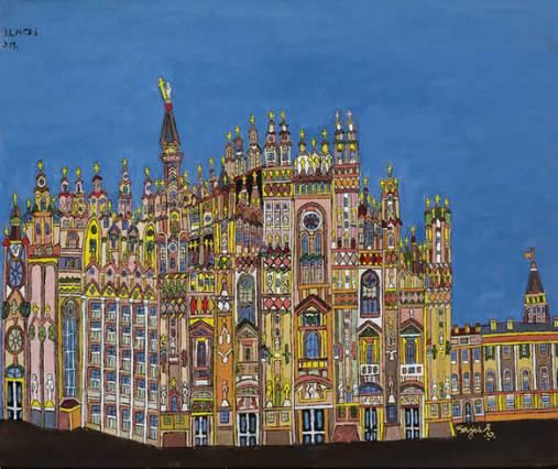 Emerik Fejes Milan outsider artist painting