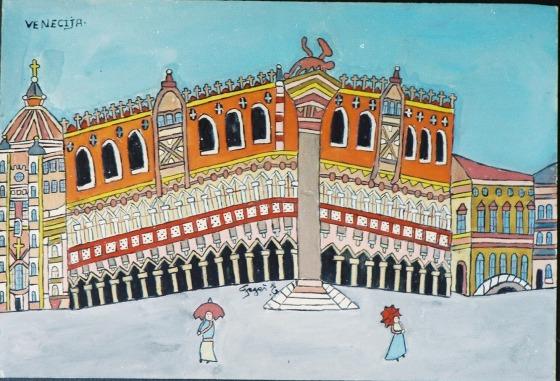 Emerik Fejes Venice painting naive art