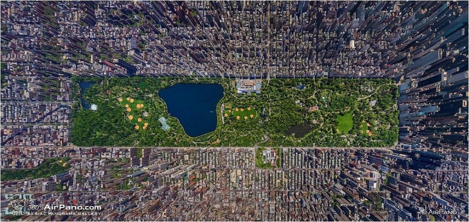 airpano_cenral_park_new york city USA aerial Photography