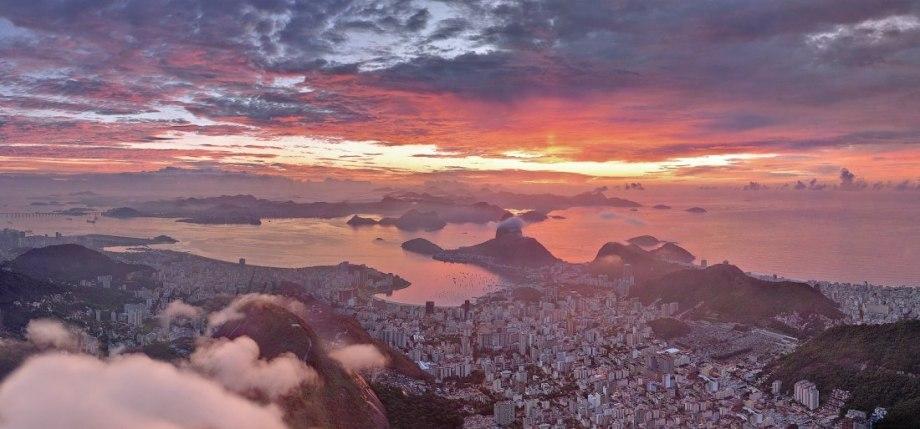 airpano rio de janeiro brazil sunset aerial photography