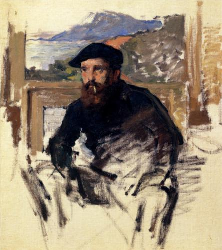 claude monet-self-portrait-in-his-atelier