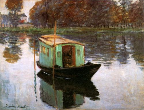 claude monet-the-studio-boat