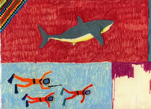 Kagi Shark Cull painting