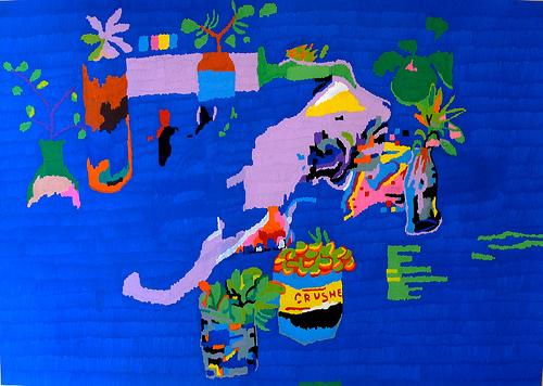 kagi - Still Life (Bull Skull Surrounded By Succulents)