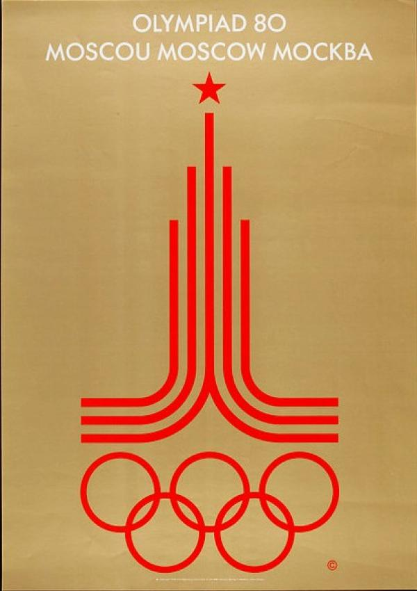 Moscow 1980 Olympics poster