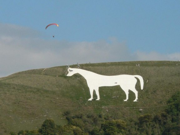 white horse-westbury-hill figure England art