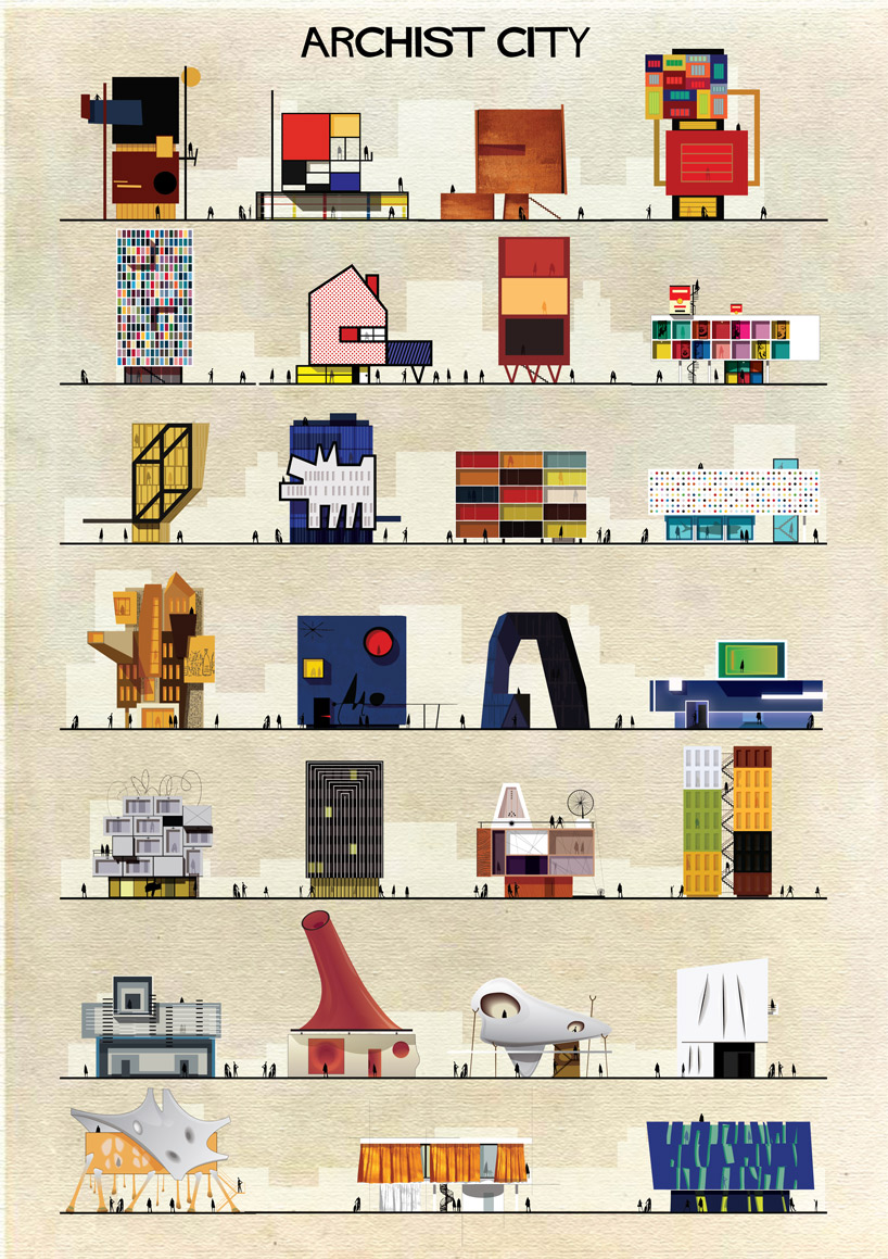 federico babina archist city illustration