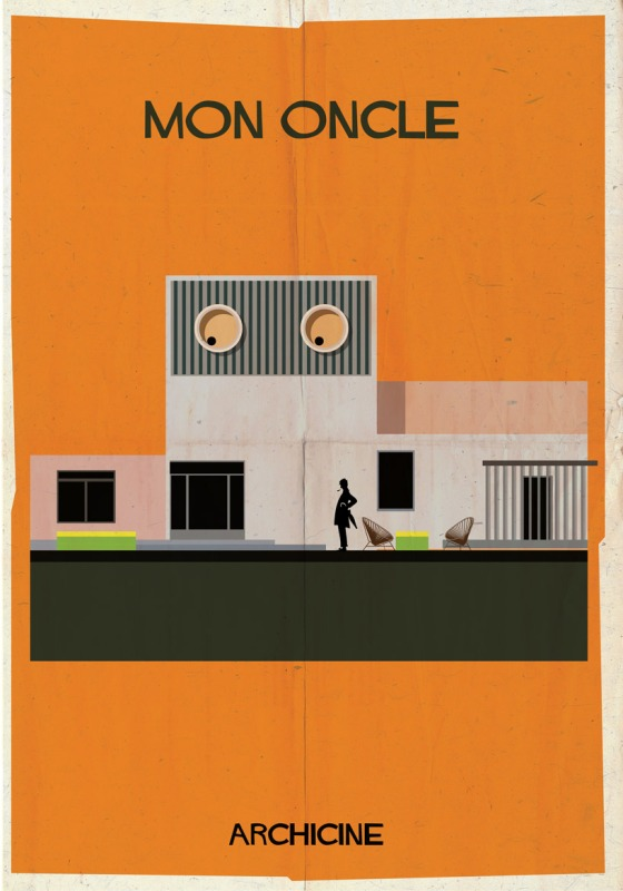 federico babina archicine mon oncle jacques tati illustration