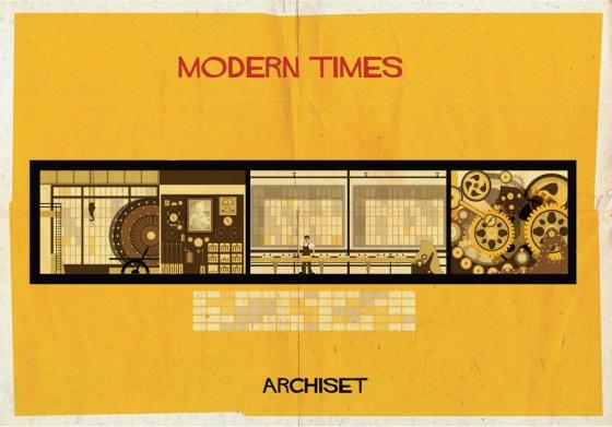 federico babina modern tims charlie chaplin archiset illustration