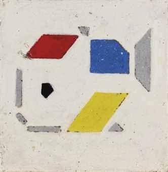 Bart van der Leck FIsh de stijl abstract painting