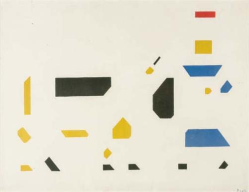 bart van der leck composition (the cow) 1917 de stijl