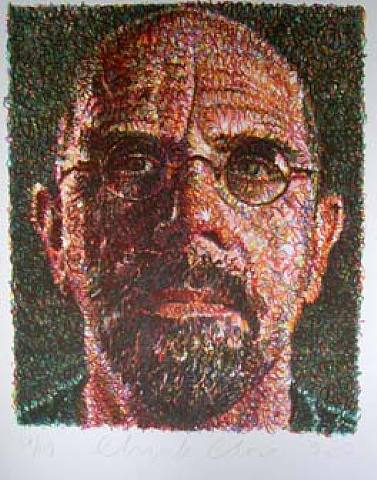 chuck close self-portrait 2007 screenprint