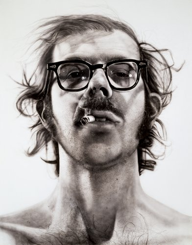 chuck close self-portrait painting 1967 photorealism