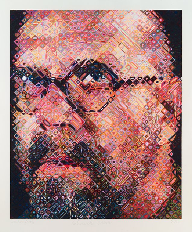 chuck close self-portrait paint 2001 contemporary art