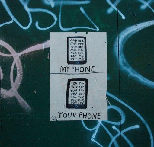 dont fret phone street art chicago
