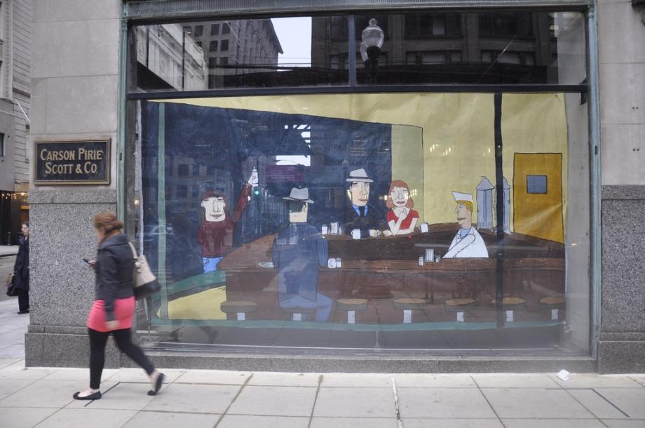 don't fret street art chicago hooper nighthawks