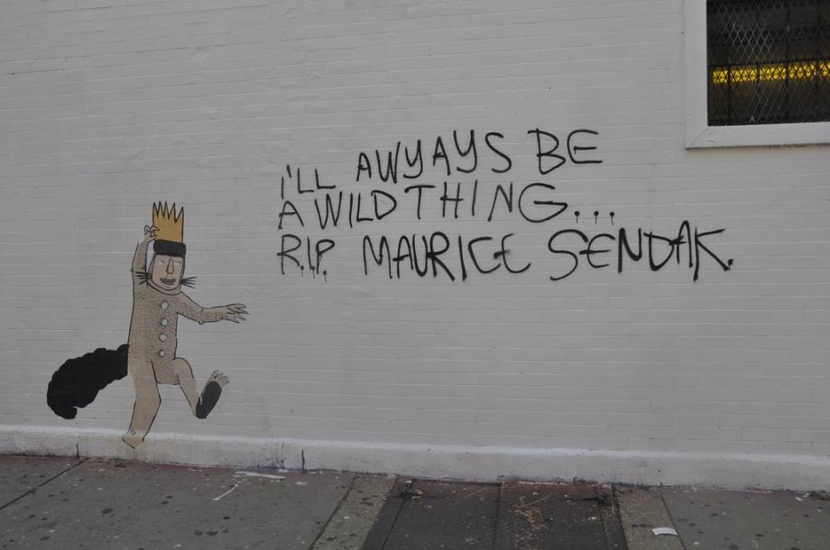 dont fret street art maurice sendak wild thing