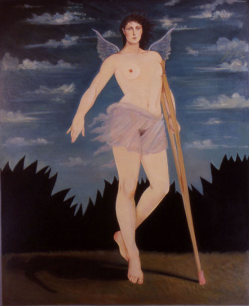 edith vonnegut injured angel front painting female nude