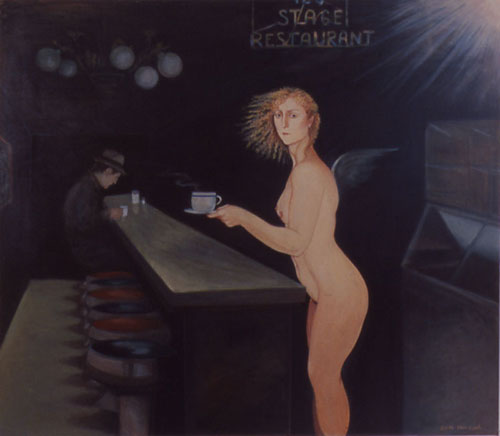 edith vonnegut stage restaurant female nude painting angel