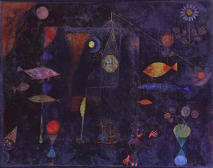 paul klee fish magic modern art painting