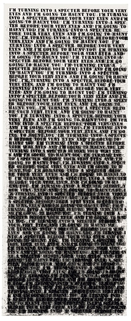glenn ligon 1992 painting untitled i'm turning into a specter before your very eyes and im going to haunt you
