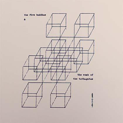 dom sylvester houedard 5 buddhas squares concrete poetry