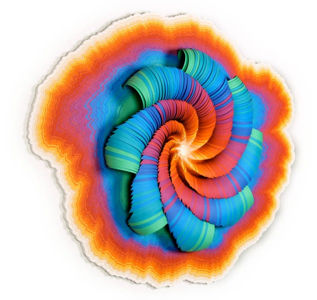 jenstark paper art colorful centrifugal