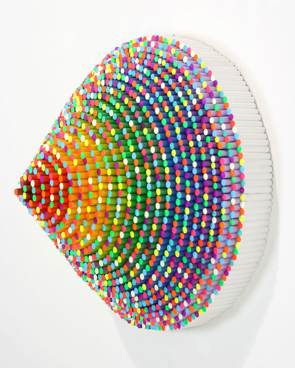 jen stark paper art rainbow trinity contemporary art