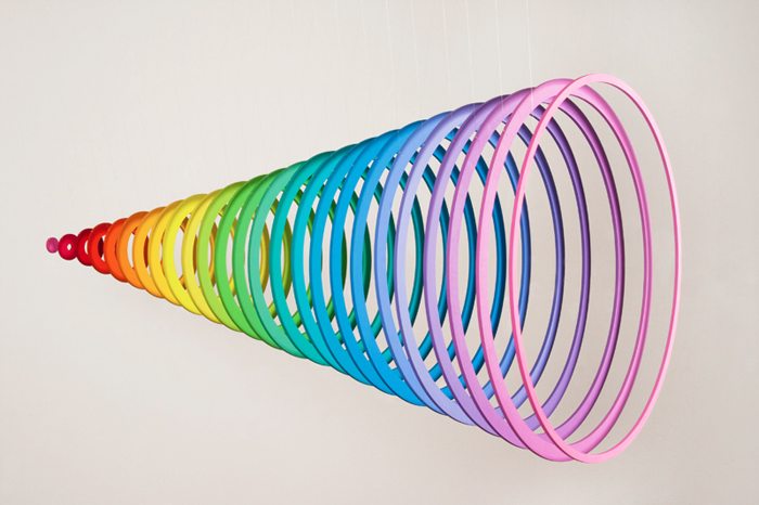 jen stark dimension paper contemporary art spring rainbow