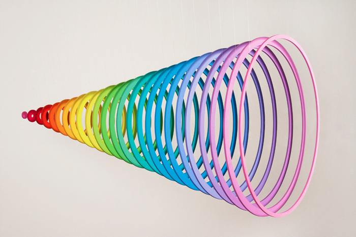 jen stark dimension paper contemporary art spring rainbow