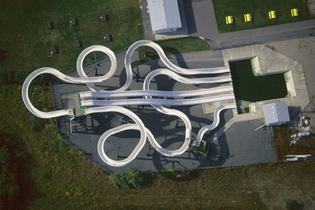 alex maclean aerial photography white waterslide