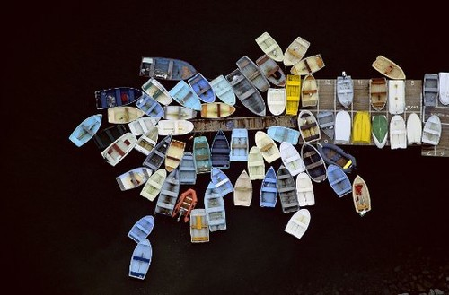 alex maclean aerial photography boats dock