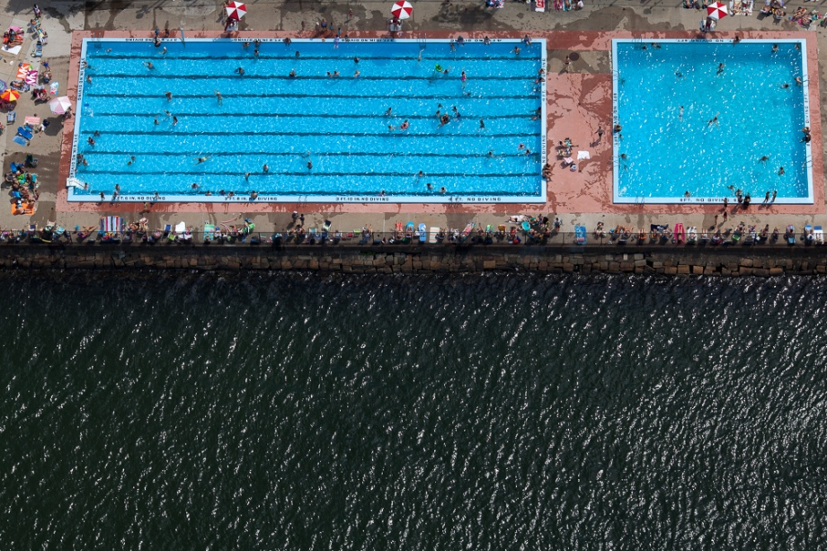 alex maclean aerial photography Pool Next to the Charles River, East Boston, MA 2012