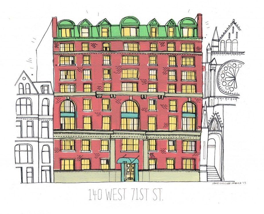 allthebuildingsofnew york james gulliver hancock drawing blog buildings 140 west 71st