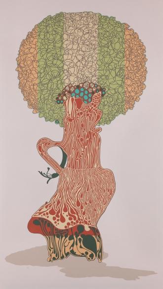 ayça telgeren portrait of a soul tree dream cut-paper painting contemporary turkish artist