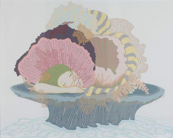 ayça telgeren cradle of deep hand cut paper painting contemporary turkish artist