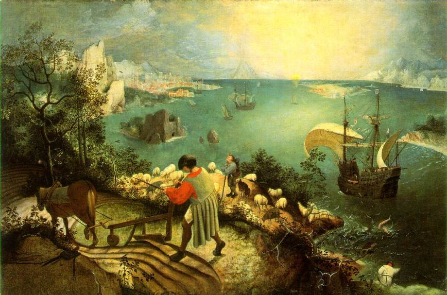 pieter brueghel the elder flemish old master landscape with the fall of icarus