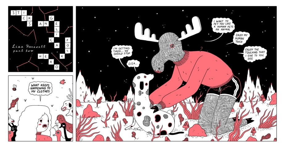 michael deforge sticks angelica folk hero lisa moose human web comic