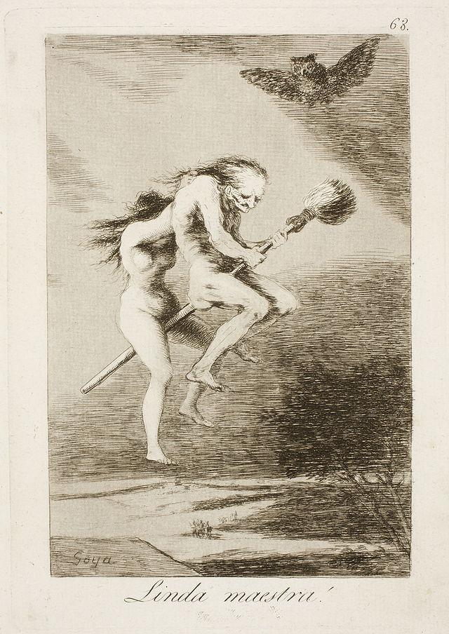 francisco goya caprichos pretty teacher 1799 spanish painting art