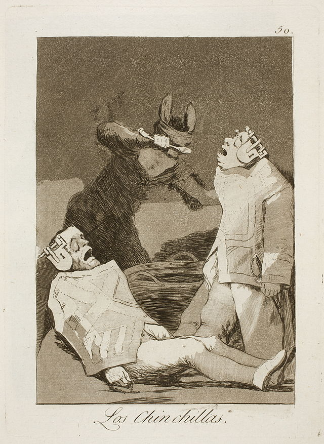 francisco goya caprichos the chinchillas 1799 spanish painting art