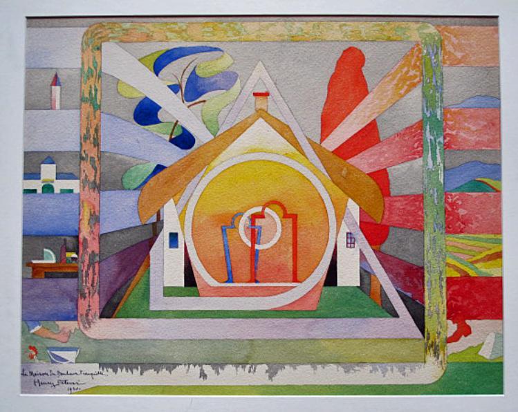 henry valensi maison bonheur tranquile 1920 art musicalism color line manifesto modern
