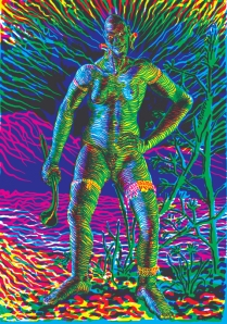 pol-edouard la masaï 2012 psychedelic  silkscreen france art