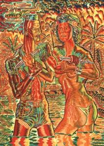 pol-edouard grace versus Sigourney painting psychedelic vietnam 2012