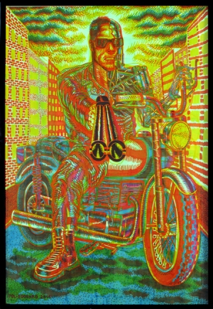 pol-edouard terminator pen drawing france psychedelia art